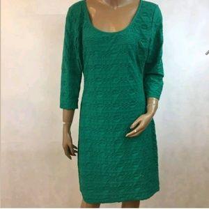 Max Studio $118 Womens XL Shift Dress Green NEW